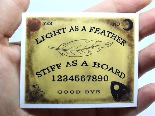 Light as a Feather Ouija Board Sticker