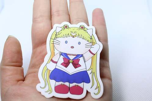 Hello Sailor Moon Vinyl Sticker