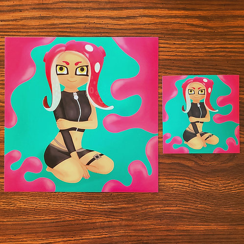 Spaltoon Octoling Girl Print
