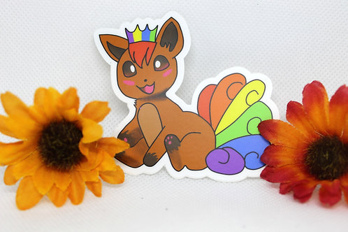 Vulpix Pride Pokemon Sticker