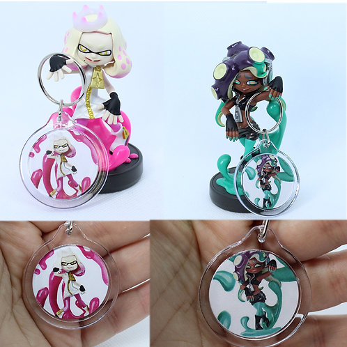 Pearl and Marina Amiibo Keychains