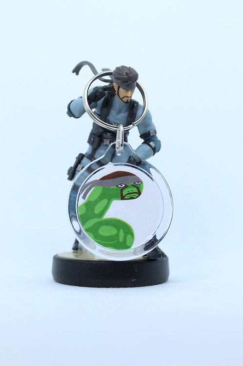 Solid Snake Amiibo Keychain