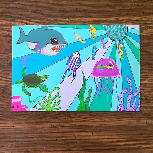 Ocean Rave Print
