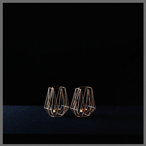 Rose Gold Candle Holders