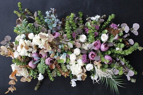 Flower Row Big (Square)[White+Purple]