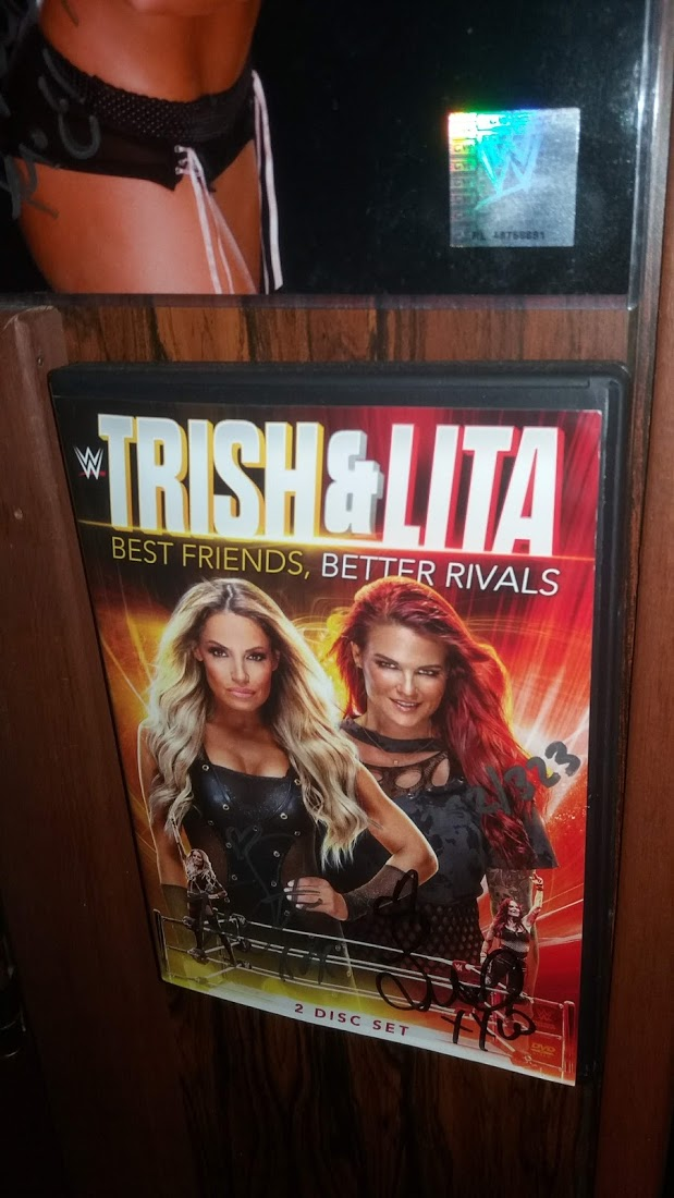 Trish Status & Lita signed DVD