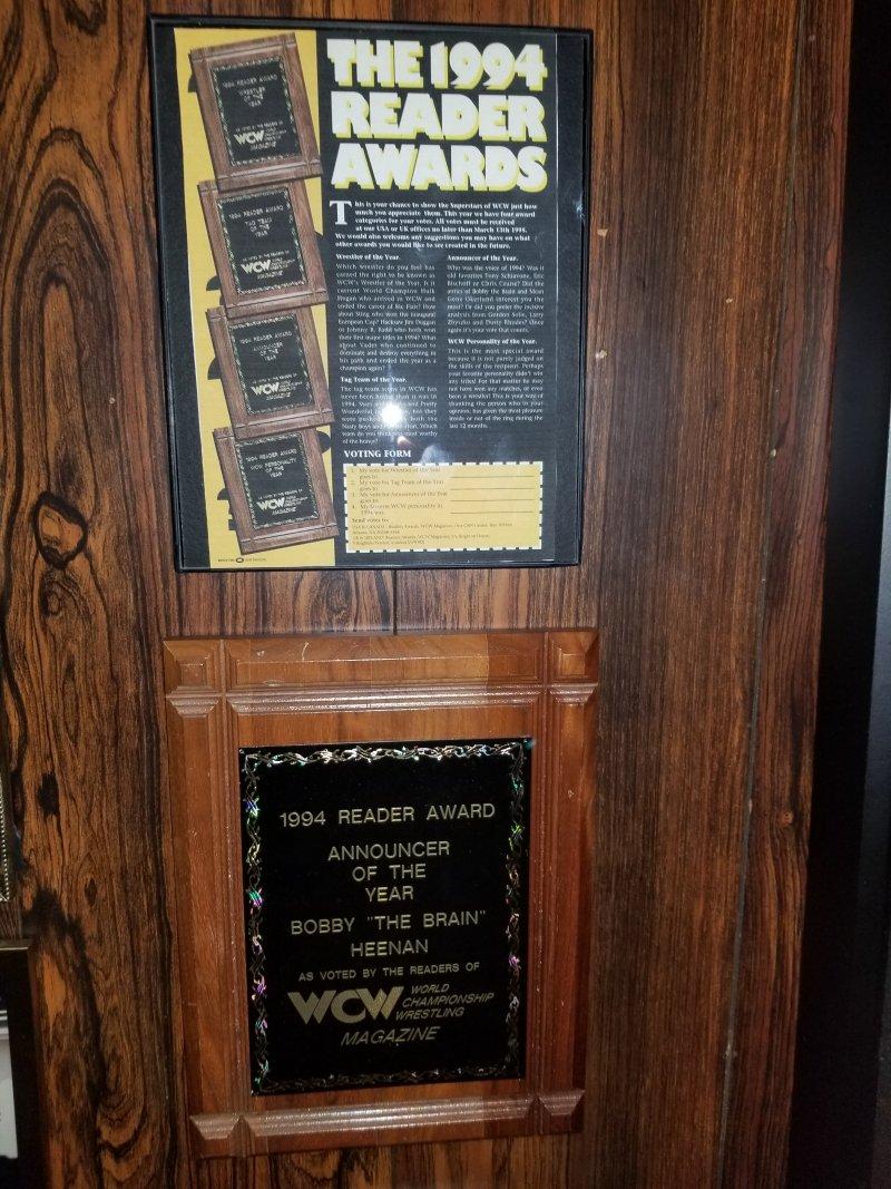 Bobby Heenan WCW Plaque