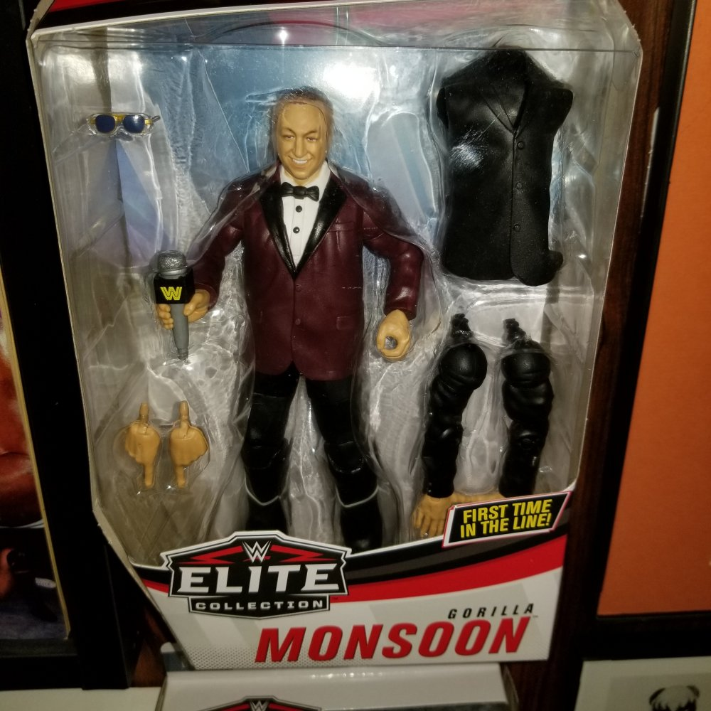 Gorilla Monsoon Elite Figure