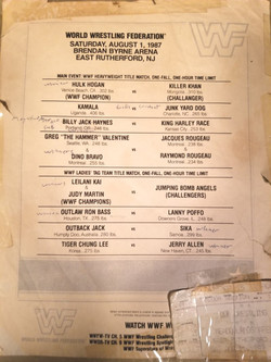 WWF August 1st, 1987