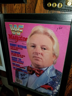 Bobby Heenan signed magazine