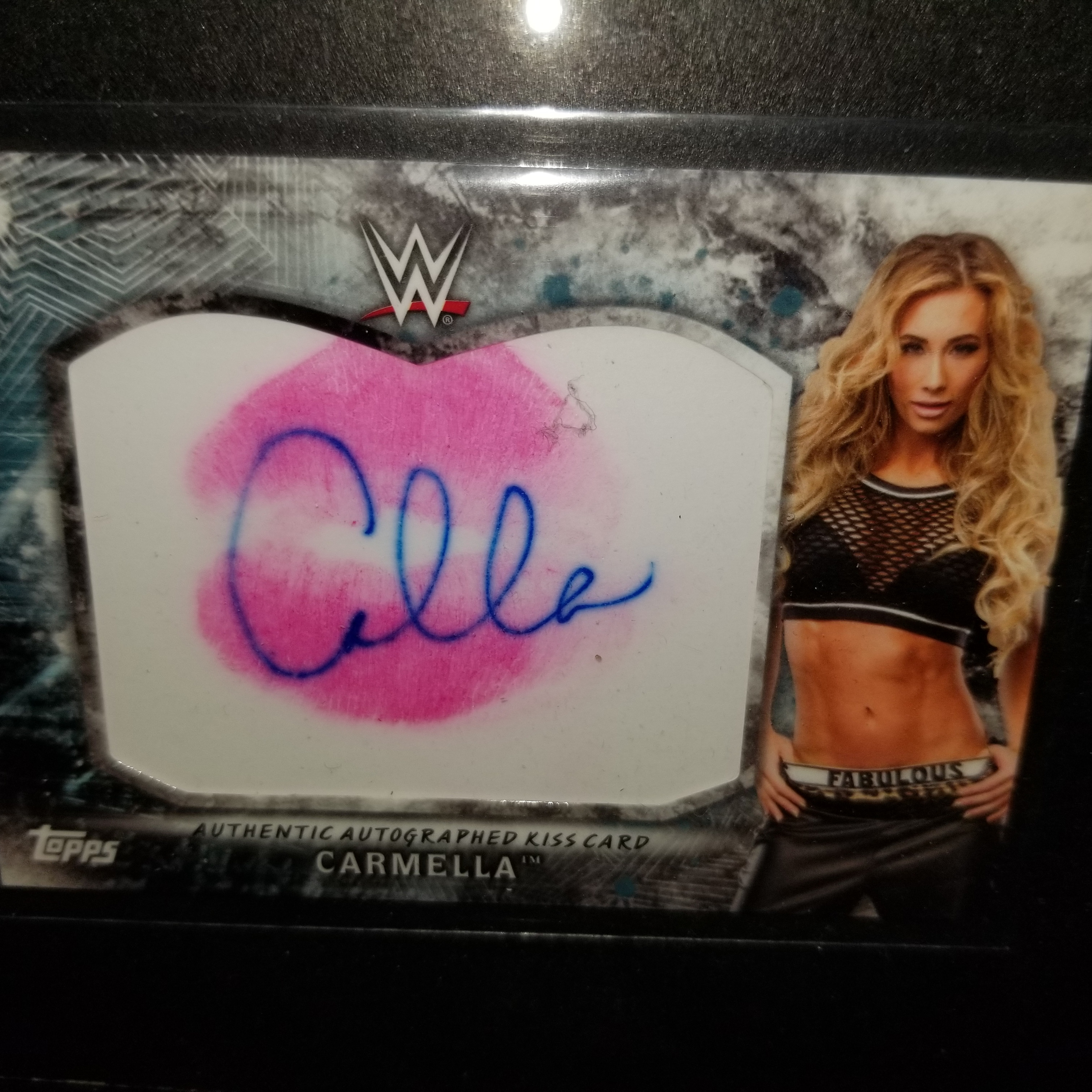Carmella Signed Kiss Card