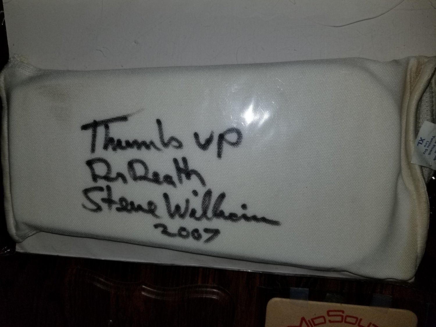 Steve Williams signed arm pad