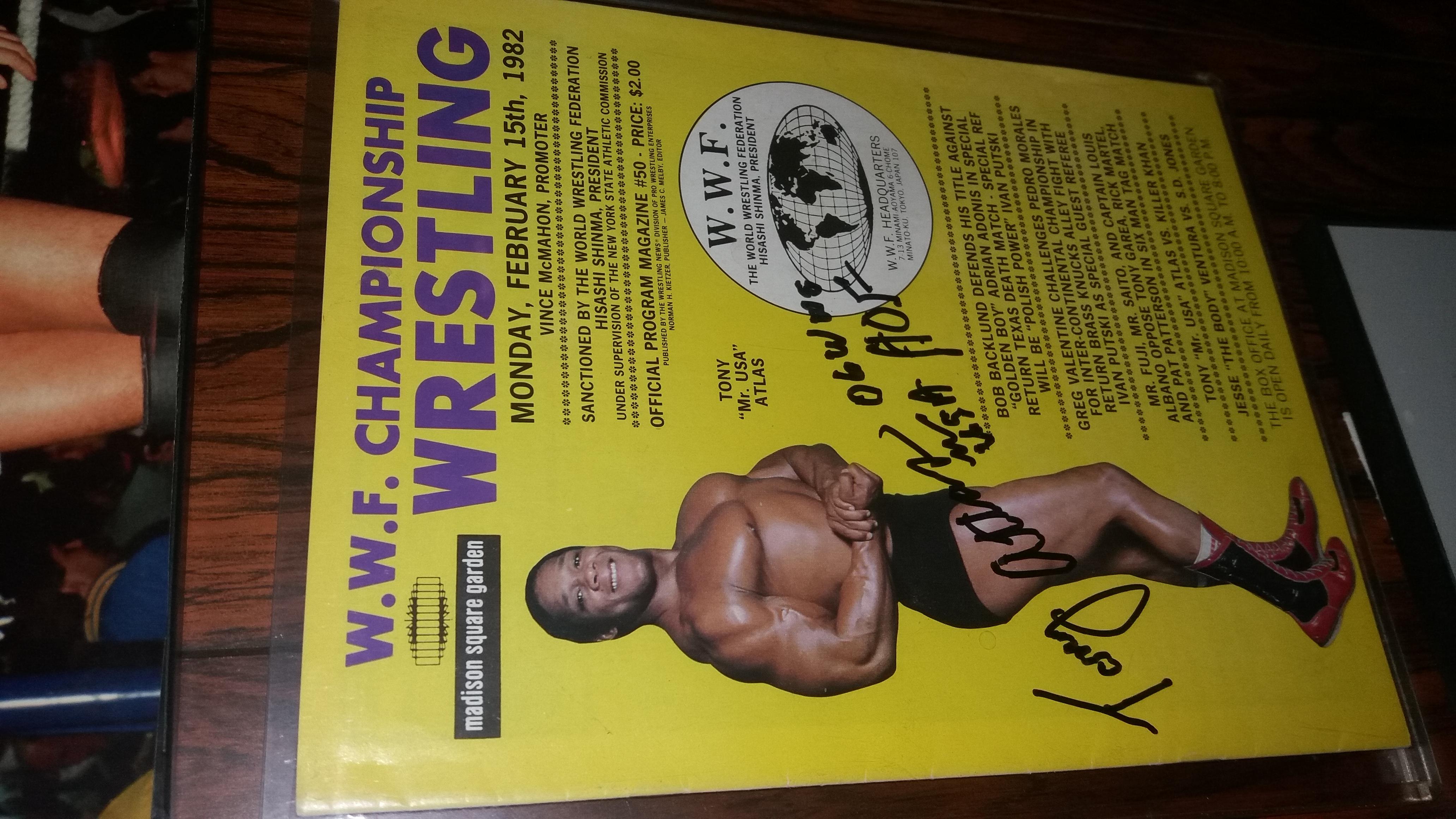 WWF MSG Program Feb 1982