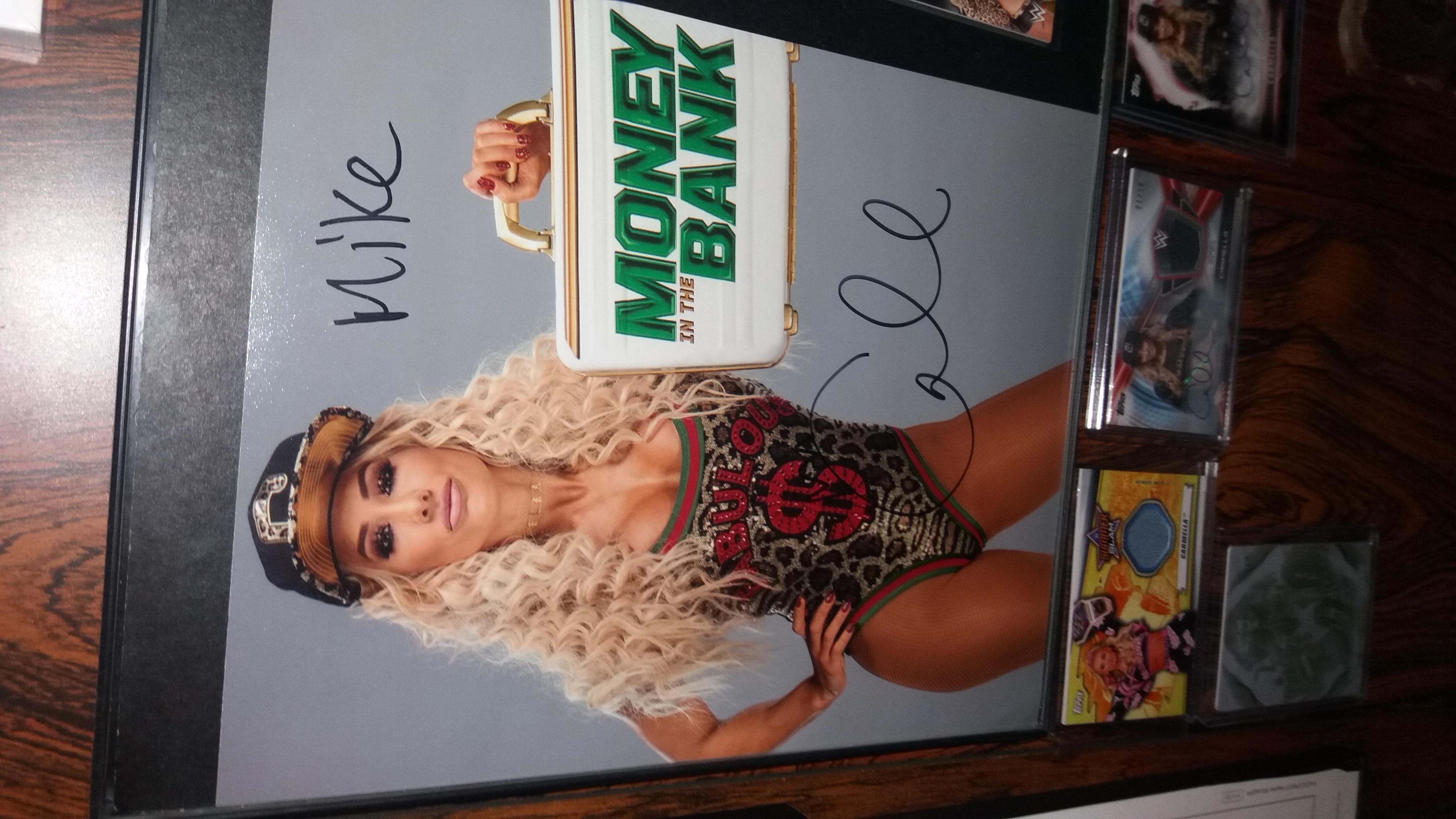 Carmella Signed Photo