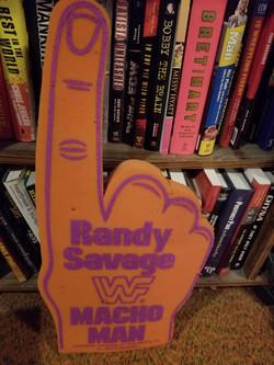 Randy Savage double sided foam finger
