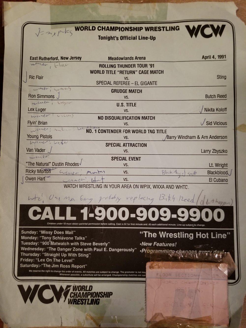 WCW April 4, 1991