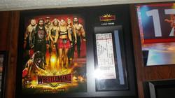WrestleMania Ticket Plaque