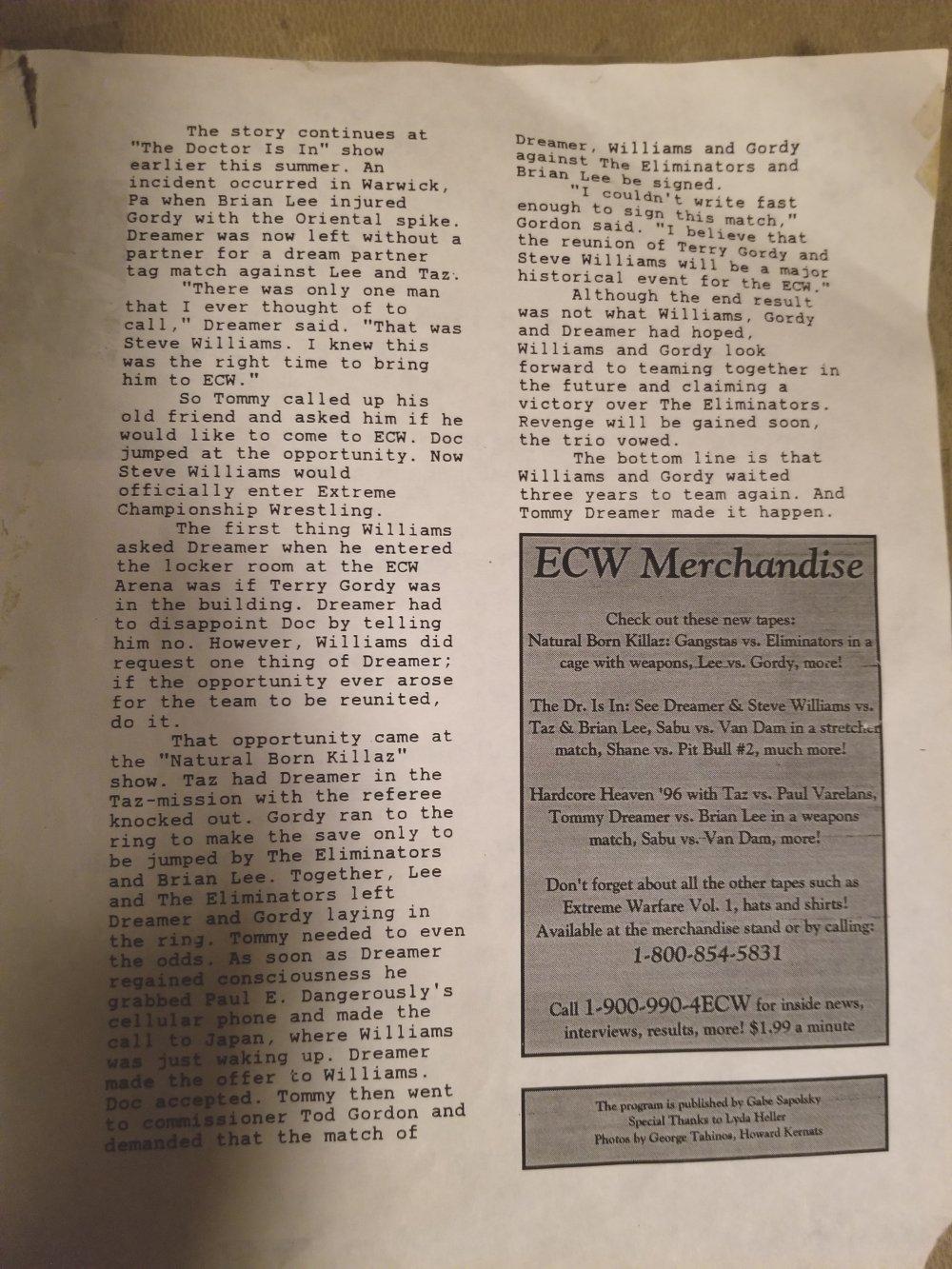 September 21 1996 ECW News