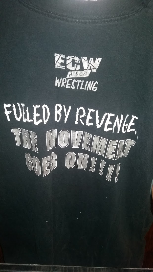 Back of ECW 1997 shirt