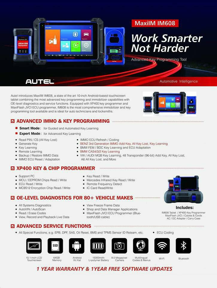 Autel MaxiIM IM608 Diagnostic Key Programming and ECU Coding