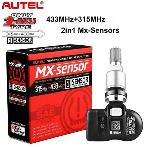 Autel Metal MX-Sensor 433/315 MHZ 2 in 1 Universal Programmable TPMS Se