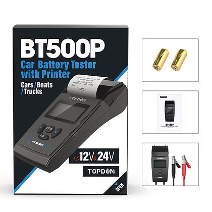 TOPDON BT500P 12V 24V Car Battery Tester with Printer