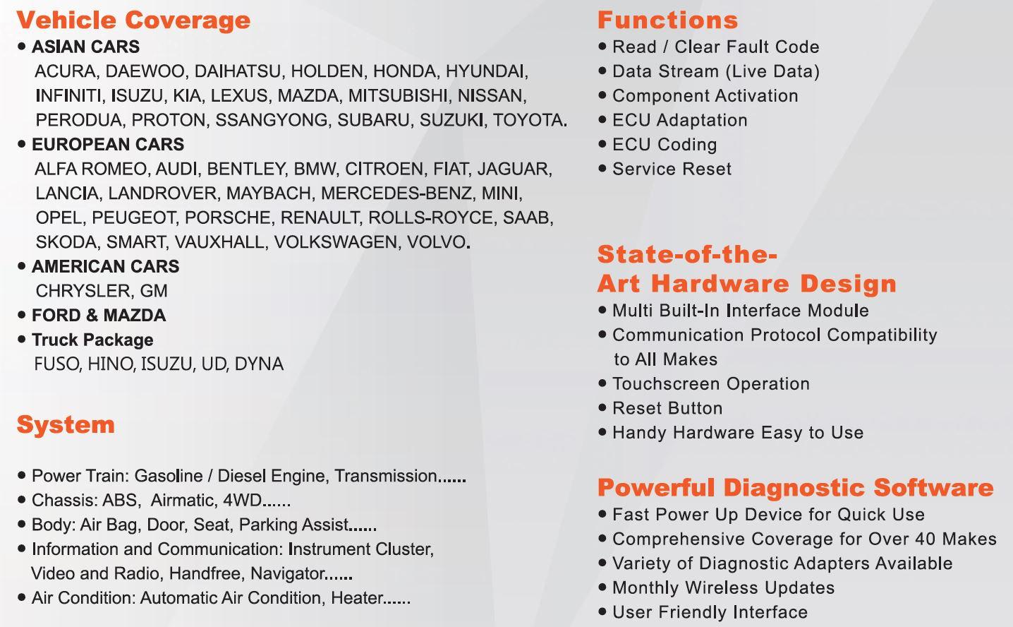 Autoland Vedis 3 | Automotive Diagnostic Scanner | New Zealand scaNZed