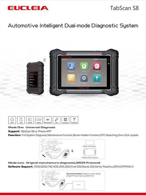 EUCLEIA Tabscan S8 Car Automotive Intelligent Dual-mode Diagnostic System Scan