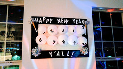 New Year's Eve Countdown Wall
