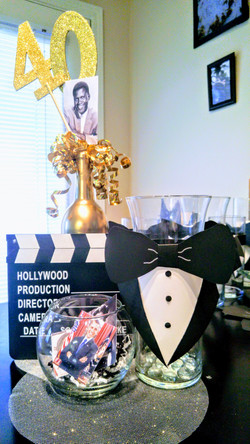 Male Hollywood Table Centerpiece