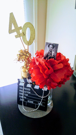 Female Hollywood Table Centerpiece
