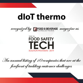 """dIoT thermo has been named """"Tot 10 Food Safety Tech Solutions Providers, 2019"""""""