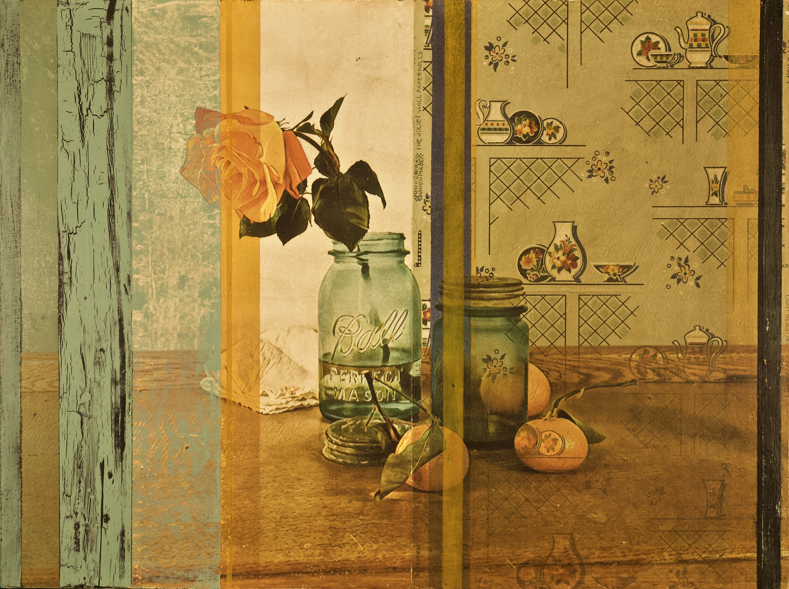 Still Life with Oranges and Jars