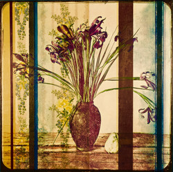 Still Life with Iris and Pear