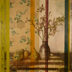 Still Life with Orchid and 3 Pears