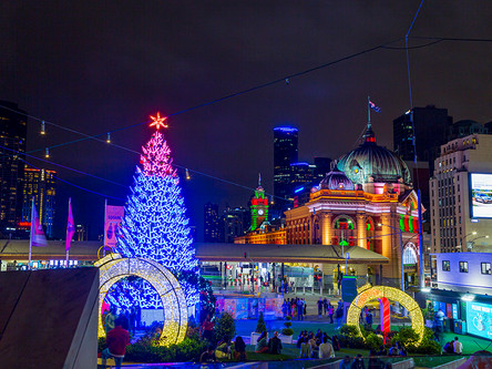 Beautiful Christmas in Melbourne City