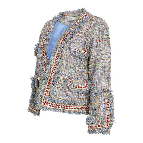 RON DAVID | METALLIC TWEED JACKET WOMEN'S