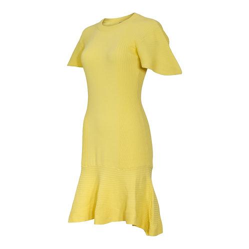 RON DAVID | STRETCH KNIT DRESS WITH LOOSE PEPLUM