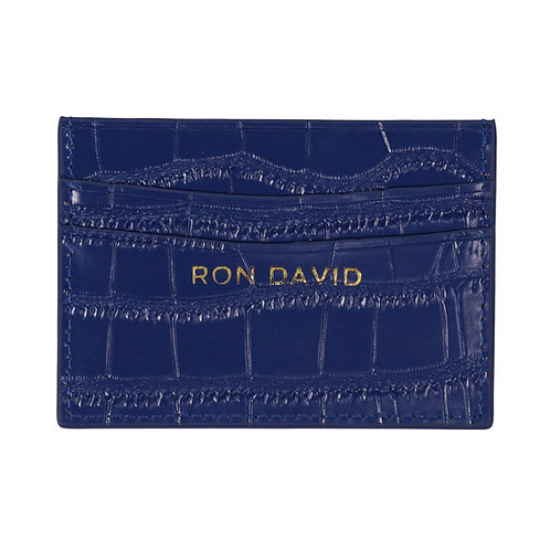 RON DAVID | CROC EMBOSSED CREDIT CARD WALLET