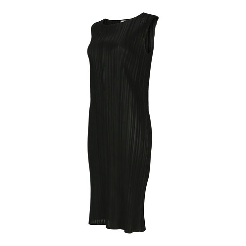 RON DAVID | STRETCH PLEATED SLEEVELESS DRESS