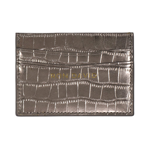 RON DAVID | METALLIC CREDIT CARD WALLET METALLIC