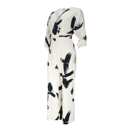 RON DAVID | ABSTRACT PRINT JUMPSUIT WOMENS
