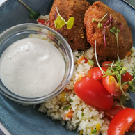 Fish Cakes and Cous Cous