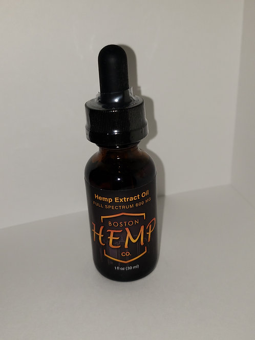 Hemp Oil Extract - Full Spectrum - 600 mg