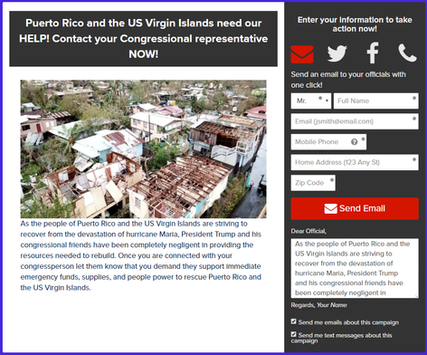 ACTION | Tell Elected Officials they must do more now for Puerto Rico!