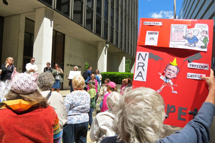 Photos | Tuesdays with Toomey Harrisburg tells Toomey not to be NRA's puppet -- Don't suppor