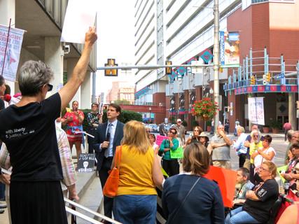"""Photos: """"Kill the Bill - Don't Kill Us"""" chants Harrisburg Tuesdays with Toomey Crowd"""