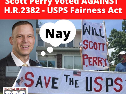 Protest | 8.26.20 Save the Post Office - Rep. Perry Accountability