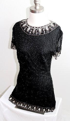 Vintage Beaded Mini Cocktail Dress