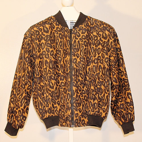 Vintage Leopard Zipper Jacket